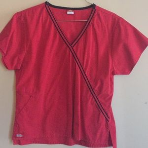 Dickies Red Nursing Uniform Size XS